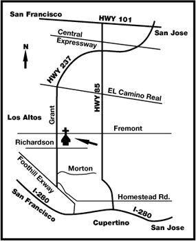 map to Logos Baptist Church